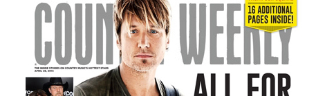 Keith Urban Covers Country Weekly Magazine